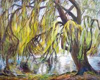Renee-Koenig-Landscapes-Spring-Plants-Trees-Modern-Age-Impressionism-Neo-Impressionism