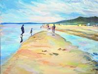 Renee-Koenig-Landscapes-Beaches-Landscapes-Summer-Modern-Age-Impressionism-Post-Impressionism
