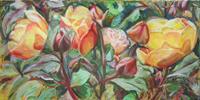 Renee-Koenig-Plants-Flowers-Landscapes-Summer-Modern-Age-Impressionism-Post-Impressionism
