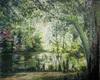 Renée König, Ruhe am Tümpel, Landscapes: Summer, Plants: Trees, Expressive Realism