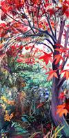 Renee-Koenig-Landscapes-Autumn-Plants-Trees-Modern-Age-Impressionism-Post-Impressionism