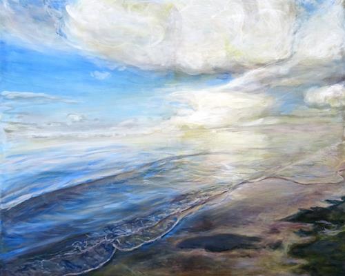 Renée König, Sehnsucht nach Meer, Landscapes: Sea/Ocean, Poetry, Photo-Realism, Expressionism