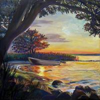 Renee-Koenig-Romantic-motifs-Sunset-Nature-Water-Modern-Times-Realism