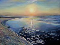 Renee-Koenig-Landscapes-Beaches-Romantic-motifs-Sunset-Modern-Age-Photo-Realism