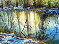 Renee-Koenig-Landscapes-Winter-Nature-Water-Modern-Age-Expressive-Realism
