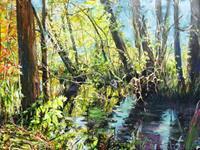 Renee-Koenig-Landscapes-Spring-Plants-Flowers-Modern-Age-Impressionism-Post-Impressionism