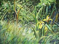 Renee-Koenig-Landscapes-Summer-Plants-Flowers-Modern-Age-Impressionism-Post-Impressionism
