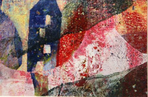 Sylvie Gasser, Sommernachtstraum, Landscapes, Landscapes: Summer, Abstract Art, Abstract Expressionism