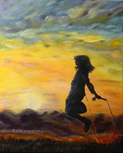 artep-gnitlon, Wenn der Abend kommt...4, Romantic motifs: Sunset, Game, Expressionism
