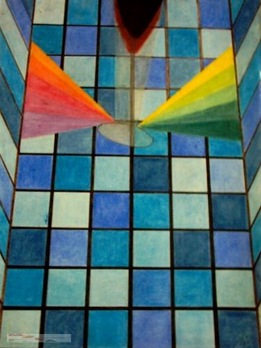 MartinusLinzer, Glasdach mit Spiegelung, Miscellaneous Buildings, Miscellaneous, Cubism