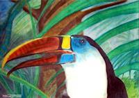 MartinusLinzer-Animals-Air-Miscellaneous-Animals-Modern-Age-Expressionism-Neo-Expressionism