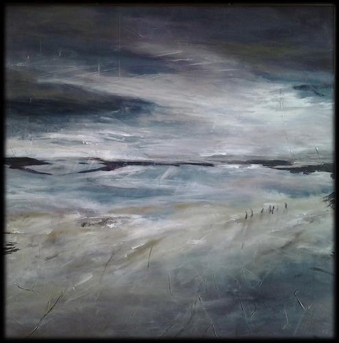 Monika Ostheimer, Der Abend naht..., Landscapes, Nature, Land-Art, Expressionism