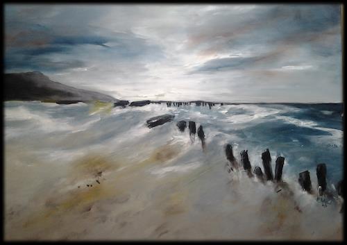 Monika Ostheimer, Meeresrauschen II, Landscapes, Nature, Contemporary Art, Expressionism