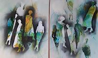 Monika-Ostheimer-People-Abstract-art-Modern-Age-Abstract-Art