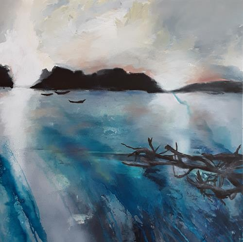 Monika Ostheimer, Stille, Landscapes, Nature, Contemporary Art, Expressionism
