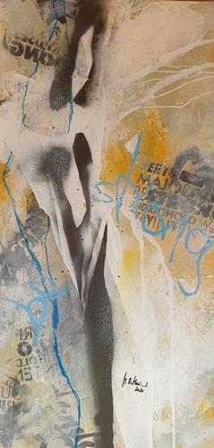 Monika Ostheimer, Be strong!, Abstract art, People, Abstract Art, Abstract Expressionism