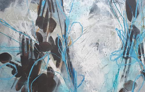 Monika Ostheimer, In die Tiefe, Abstract art, Fantasy, Abstract Art