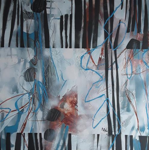Monika Ostheimer, Stripes, Abstract art, Fantasy, Abstract Art, Expressionism