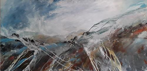 Monika Ostheimer, colorful nature, Landscapes: Hills, Landscapes: Mountains, Contemporary Art, Abstract Expressionism