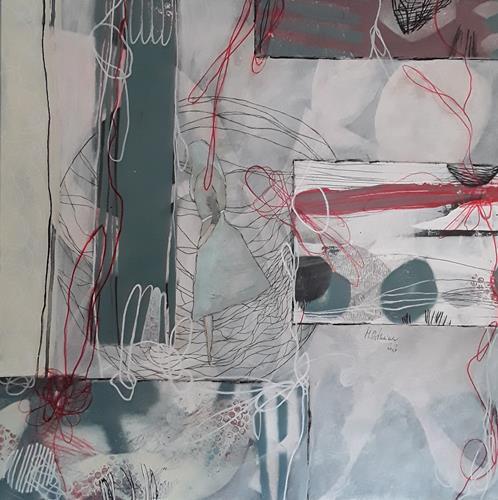 Monika Ostheimer, Formensprache II, Abstract art, People: Women, Contemporary Art, Abstract Expressionism