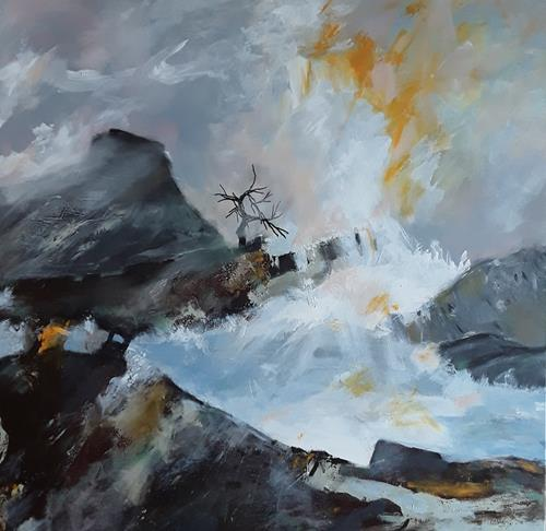 Monika Ostheimer, Devil's Peak, Landscapes, Nature, Contemporary Art, Abstract Expressionism