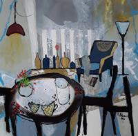 Monika-Ostheimer-Still-life-Decorative-Art-Modern-Age-Primitive-Art-Naive-Art