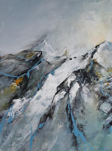 Monika Ostheimer, Gipfelglück, Landscapes, Landscapes: Mountains, Contemporary Art
