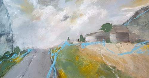 Monika Ostheimer, Country road, Nature, Landscapes, Contemporary Art, Expressionism