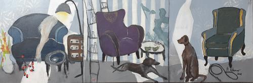 Monika Ostheimer, Three rooms, Animals, Still life, Contemporary Art