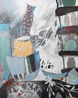 Monika-Ostheimer-Still-life-Interiors-Modern-Age-Primitive-Art-Naive-Art