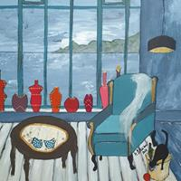 Monika-Ostheimer-Decorative-Art-Still-life-Modern-Age-Primitive-Art-Naive-Art