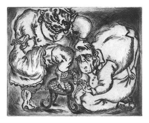 Ken Dowsing, ...DIE HERRLICHE FREUDE DES SÜßEN HAKENSCHNÜRENS.., Abstract art, Fantasy, Expressionism