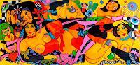 Melo-Erotic-motifs-Female-nudes-People-Women-Modern-Age-Pop-Art