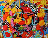 Melo-Erotic-motifs-Female-nudes-Modern-Age-Pop-Art