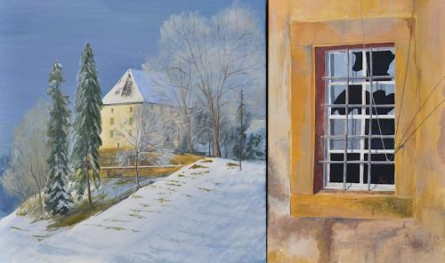 Daniel Gerhard, Schloss Rued, Architecture, Landscapes: Winter
