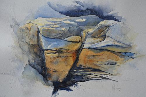 Daniel Gerhard, Felspartie am Faulhorn, Landscapes: Mountains, Nature: Rock