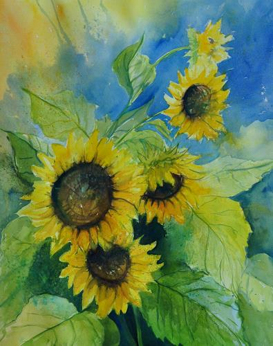 Daniel Gerhard, Sonnenblumen 3, Nature: Miscellaneous, Times: Summer