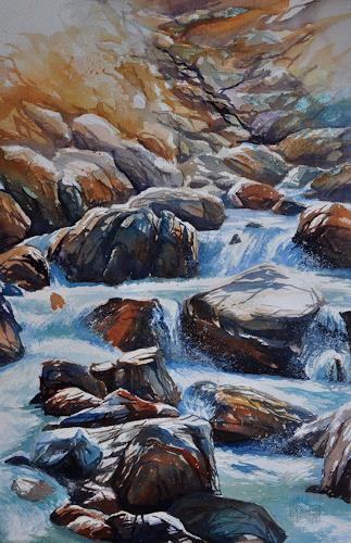 Daniel Gerhard, Bergwasser 3, Nature: Water, Nature: Rock