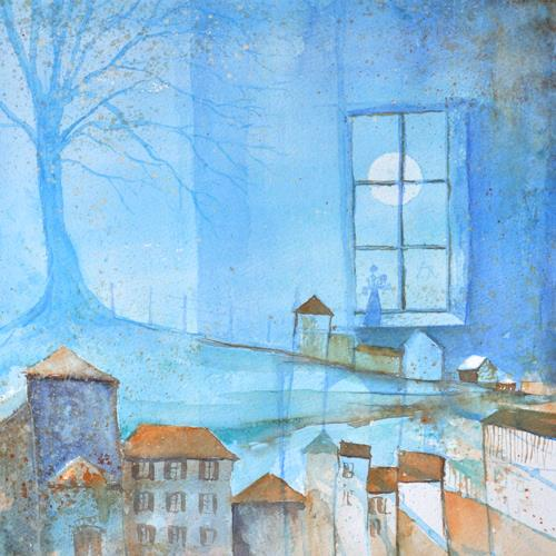 Daniel Gerhard, Wintertraum, Times: Winter, Miscellaneous Buildings, Expressionism