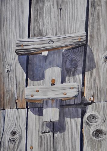 Daniel Gerhard, ...gefallen, Nature: Wood, Plants: Trees, Expressionism