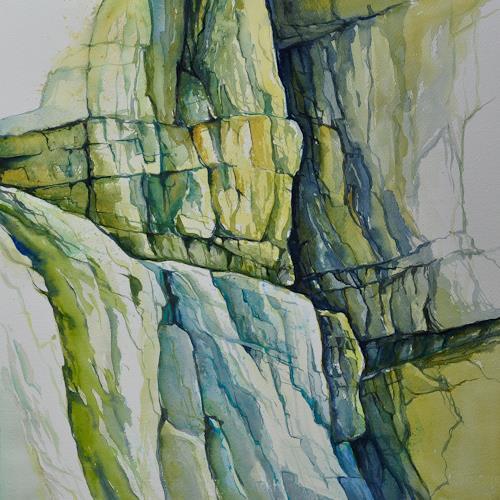 Daniel Gerhard, Kalkfelsen in der Taubenlochschlucht, Nature: Rock, Landscapes: Mountains, Expressionism