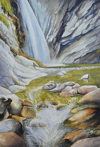 Daniel Gerhard, Im Chessiloch, Times: Summer, Nature: Water, Realism