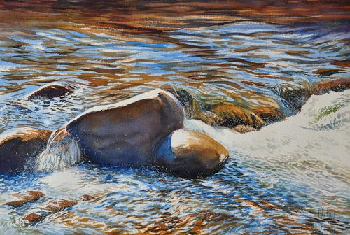 Daniel Gerhard, Im Fluss, Nature: Water, Nature: Rock