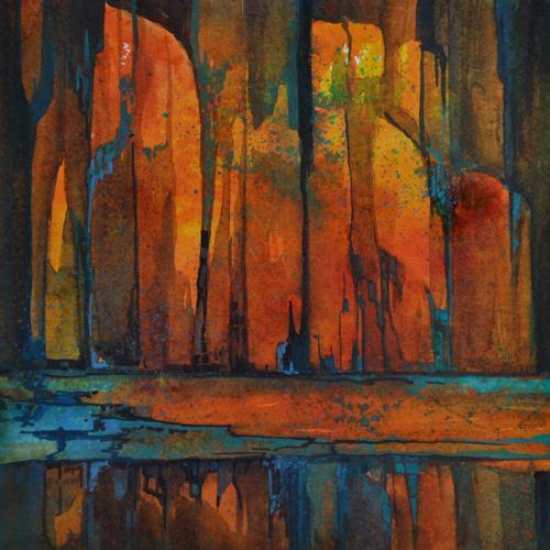 Daniel Gerhard, glühend, Nature: Fire, Decorative Art, Abstract Expressionism