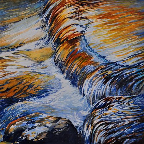 Daniel Gerhard, steter Fluss, Nature: Water, Times: Autumn, Expressionism