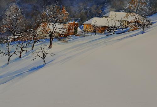 Daniel Gerhard, Bengel, Landscapes: Winter, Times: Winter, Expressionism