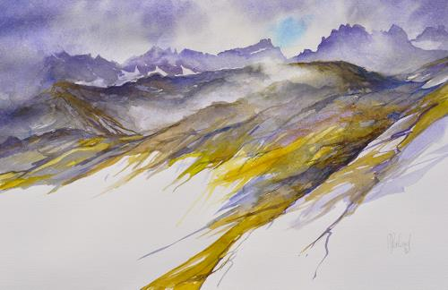Daniel Gerhard, Das Wetter schlägt um..., Landscapes: Mountains, Nature: Rock