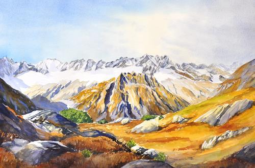 Daniel Gerhard, Göscheneralp, Landscapes: Autumn, Landscapes: Mountains, Abstract Art