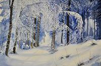 Daniel-Gerhard-Landscapes-Winter-Plants-Trees-Modern-Age-Abstract-Art