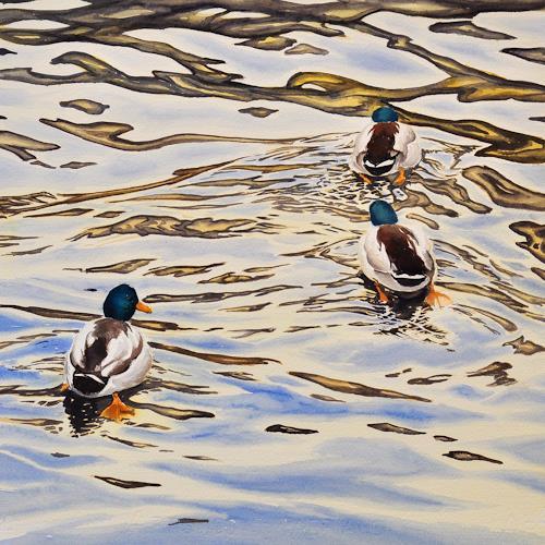 Daniel Gerhard, Mir nach!, Animals: Water, Nature: Water, Abstract Art, Expressionism
